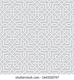 Geometric Pattern, Traditional Arabic Islamic Background, Vector Illustration