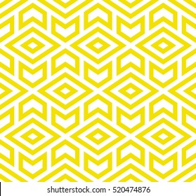The geometric pattern with triangles. Seamless vector background. Yellow and white texture. Graphic modern pattern