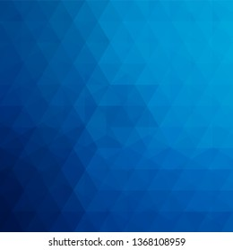 Geometric pattern, triangles vector background in blue tone. Illustration pattern