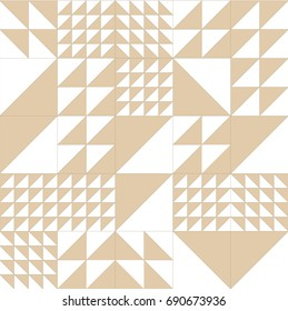 Geometric pattern vector. Triangle shape background. Tiles graphic design.