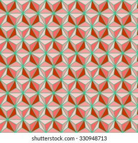 Geometric pattern vector, triangles texture vector