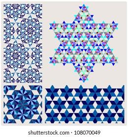 geometric pattern,element blue David star