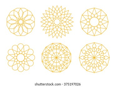 Geometric patterns inspired by the clock on Big Ben in London