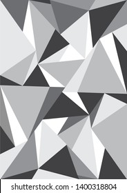 Abstract geometric patterns with monotone color background