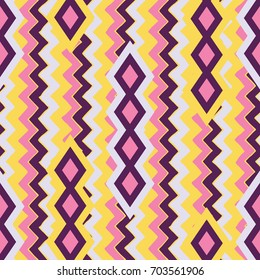 Geometric patterns. South American motives. Seamless pattern.