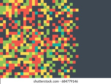 Geometric Pixel Art Background