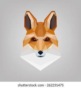 Geometric polygonal head is foxes.