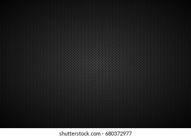 Geometric polygons background, abstract black metallic hexagons wallpaper, vector illustration
