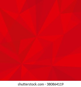 Geometric Red Abstract Vector Background for Use in Design. Modern Polygon Texture.