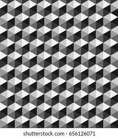 geometric rhombus pattern background with monochrome.triangle in shades of grey.hexagon pattern background