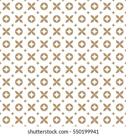 Geometric seamless floral vector pattern in vintage fashion style.