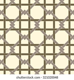 Geometric seamless pattern background with weave style. Abstract background. Vector seamless pattern illustration.