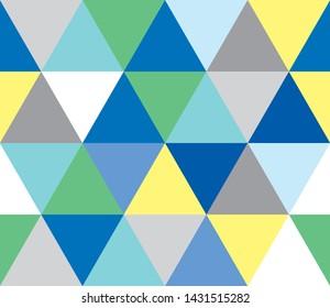 Geometric seamless pattern (blue type)