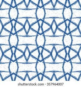 Geometric Seamless Pattern. Geometric Seamless Blue and White. Geometric Seamless Background.