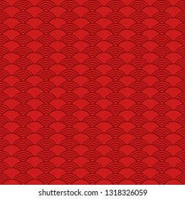 Geometric seamless pattern in chinese style.