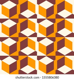Geometric seamless pattern in color, bright geometric background, colorful vector illustration.