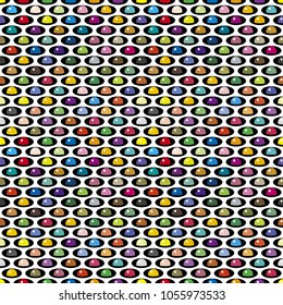 Geometric seamless pattern of colored beads