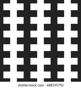 Geometric seamless pattern with crosses. Vector background