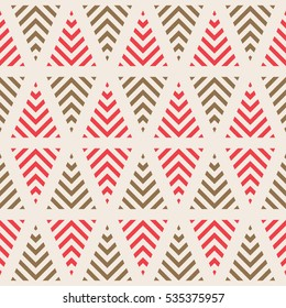Geometric seamless pattern. Decorative background. Vector illustration.