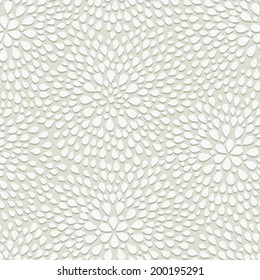 Geometric Seamless Pattern. Dotted Rhombus Structure with Shadow on White. Vector Seamless Background