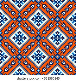Geometric seamless pattern in ethnic style. The traditional structure of tribal folk forms.