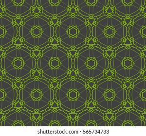 Geometric seamless pattern. Modern floral ornament. vector illustration. For the interior design, wallpaper, decoration print, fill pages
