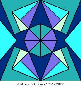 Geometric seamless pattern. Original ornament, vector illustration.