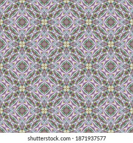 Geometric seamless pattern, ornament, abstract colorful background, fashion print, vector texture for fabric, textile, wallpaper, decoration.