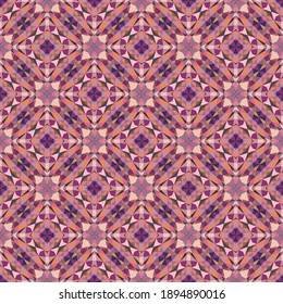 Geometric seamless pattern, ornament, abstract colorful background, fashion print, vector texture.