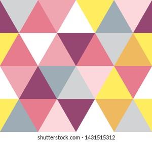 Geometric seamless pattern (pink type)