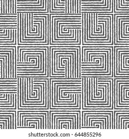 Geometric seamless pattern with repeating geometric squares.White and black