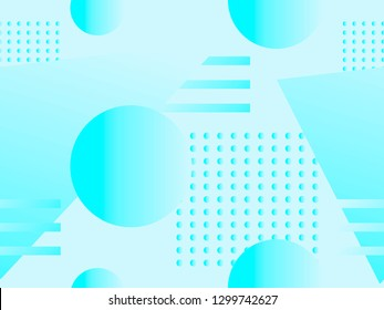 Geometric seamless pattern. Geometric shapes with gradient, memphis style. Zine culture abstract background. Vector illustration