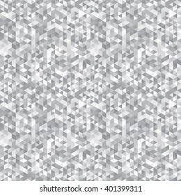 Geometric seamless pattern silver gray triangles of different colors, vector.
