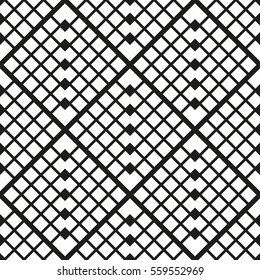 Geometric seamless pattern with squares. Vector art.