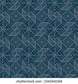 geometric seamless pattern tile with modern intricate lines and triangles design. for textile, fabric, wallpaper, background, backdrops, covers and futuristic surface designs