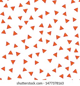 Geometric Seamless Pattern with Triangle figures. Perfect for your design, textile, pattern fills, box, posters, cards, web page background etc. Pattern under the mask. Vector.