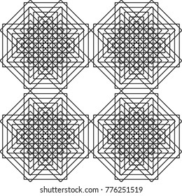 Geometric seamless pattern. Vector abstract background. Modern design black and white pattern.