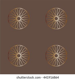 Geometric seamless pattern vector gold color old
