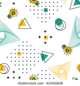 Geometric seamless pattern Vector pattern in hipster style Textile minimal design