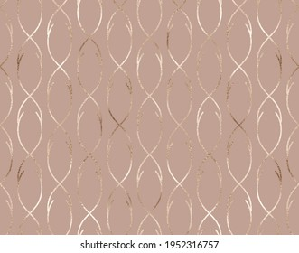 Geometric seamless pattern with waved stripes.