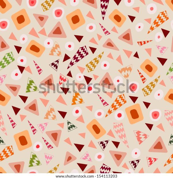 Geometric Seamless Retro Pattern