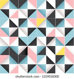 Geometric seamless tileable pattern. bright, modern abstract design