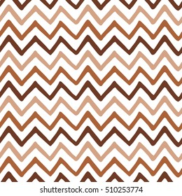 Geometric Seamless zigzag pattern made on brown iced coffee colors. Repeated background, backdrop or invitation card abstract design.