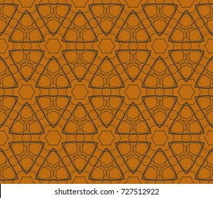 Geometric shape abstract vector illustration. Seamless pattern.