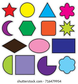 Geometric shape with assorted colors