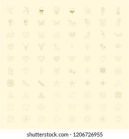 Geometric shape design vector set