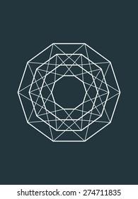 Geometric shape, line design, vector element