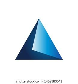 geometric shape triangle Prism Logo Design vector illustration