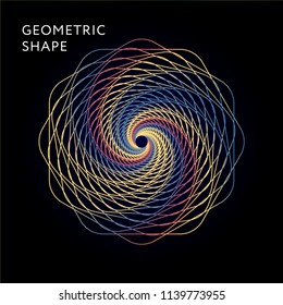 Geometric Shape Vector Graphic Illustration Gradient minimal