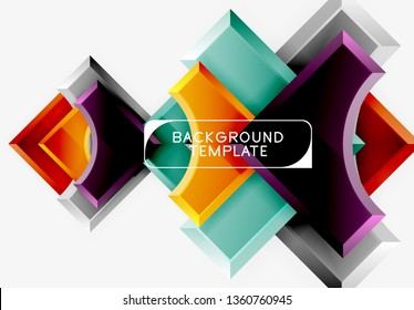 Geometric shapes abstract background. Vector
